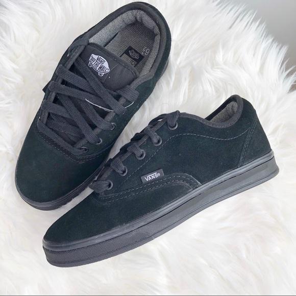00ddda1bd3 Vans AV Era Black Leather Skate Shoes M 6.5 W 8